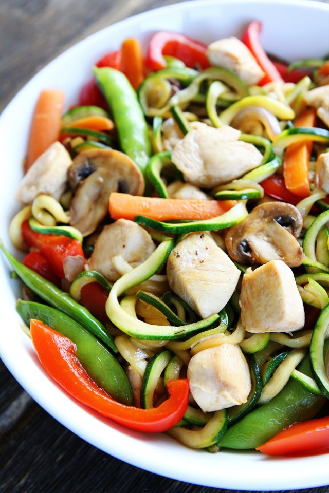Essentials to a good stir-fry are: super fresh ingredients, hot pan, quick cooking, marinate proteins, dry veggies and don't crowd the pan.