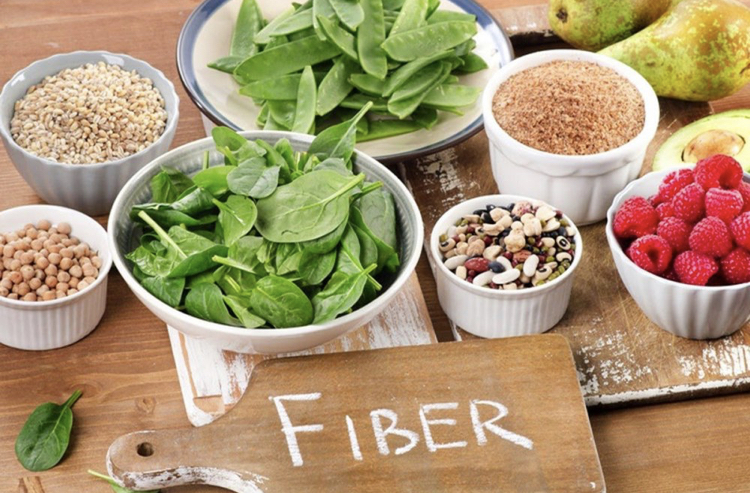 FIBER, FIBER, FIBER! Did you know that only 3% of Americans get adequate fiber in their diet? Women should aim for 28g per day while men need 35g. Include more beans, veggies and fruits in your diet!